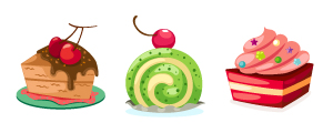Cake flavour icons