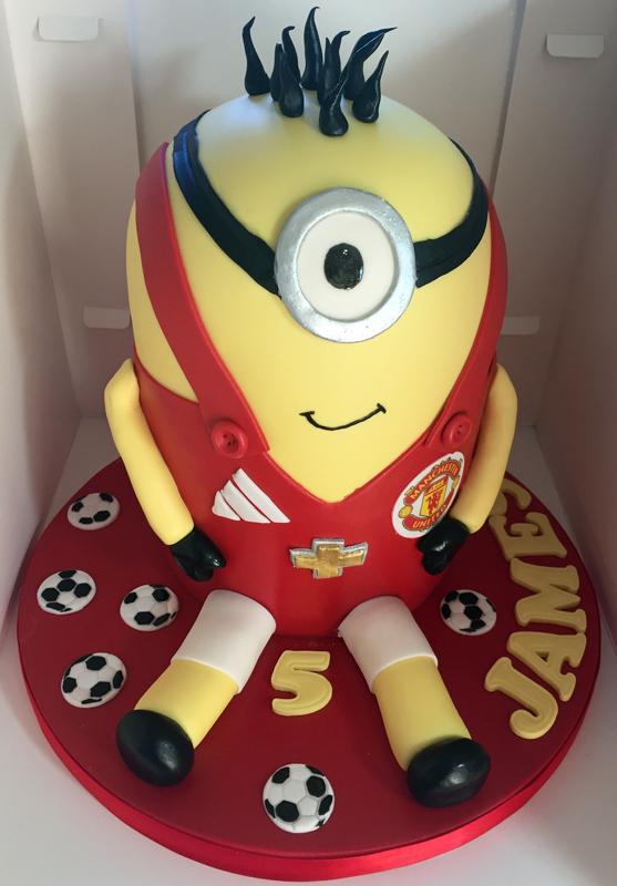Manchester United Minion Cake