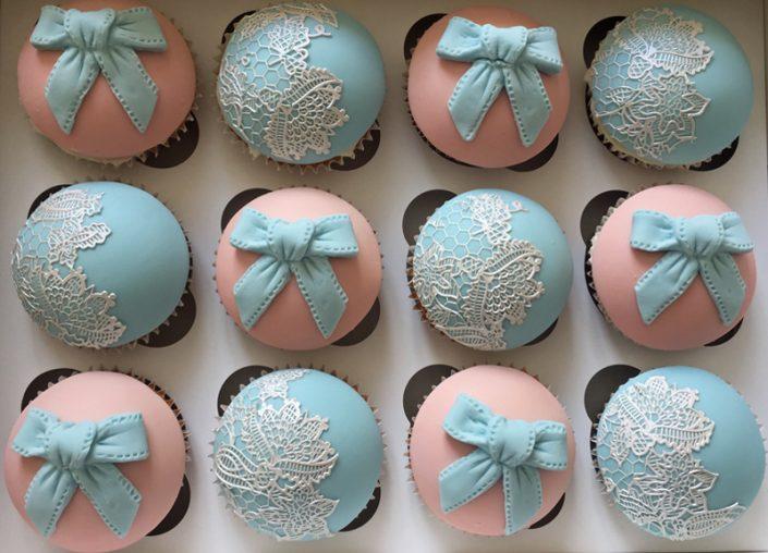 Pastel Pink & Blue Cupcakes