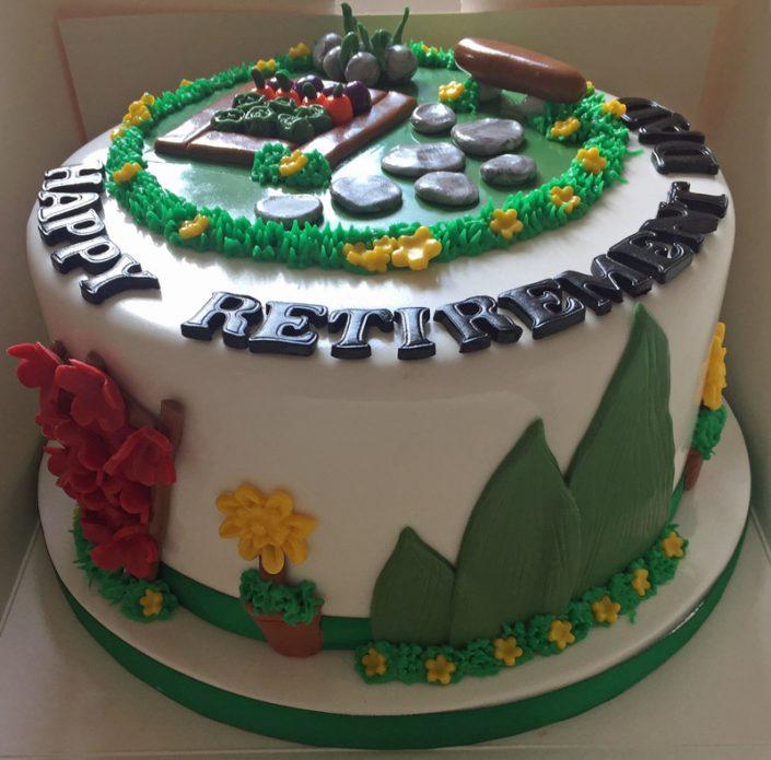 Gardening Retirement Cake