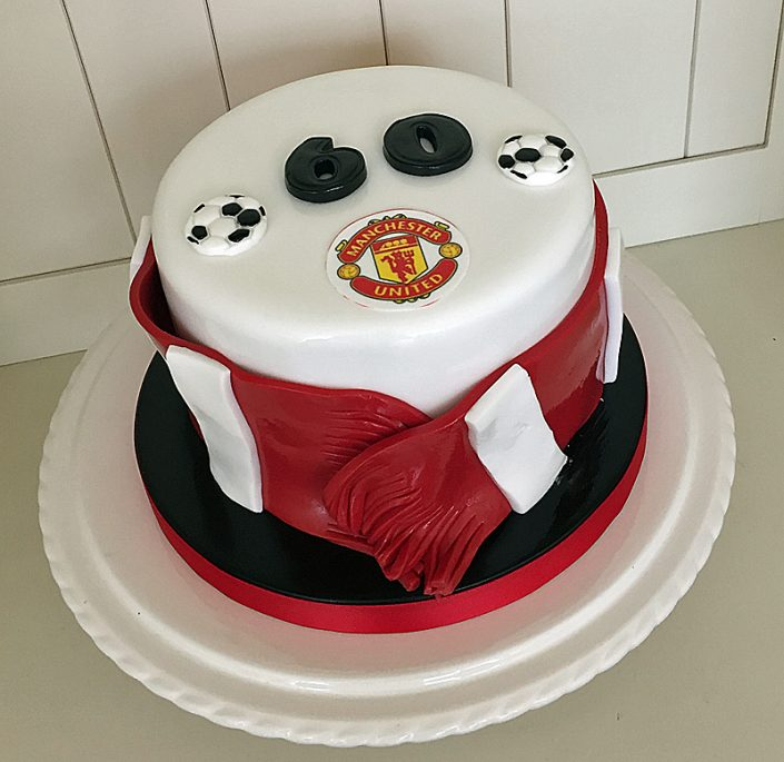 Manchester United 60th Birthday Cake