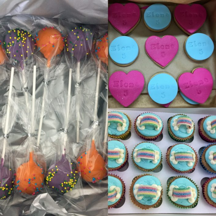 Dessert Table Cake Pops, Iced Biscuits & Cupcake