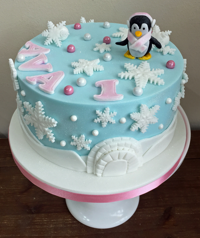 Penguin and Igloo Cake