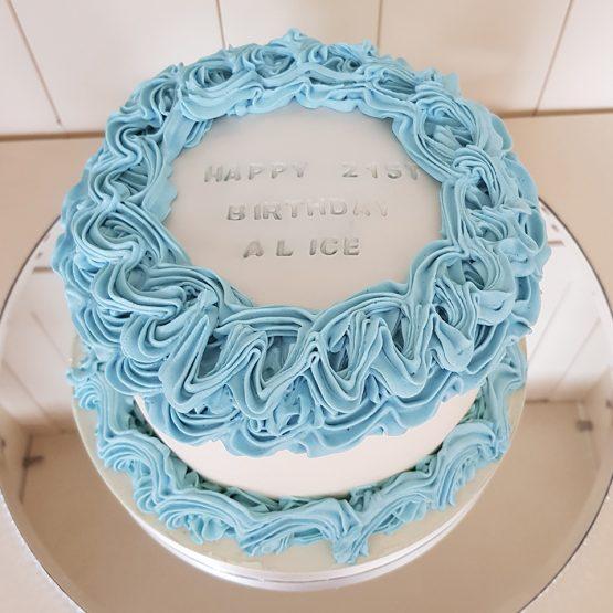 Buttercream Plaque Cake