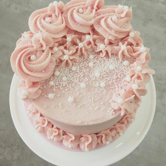 Pink Sparkle Buttercream Cake