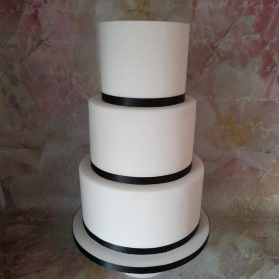 Plain Iced Wedding Cake