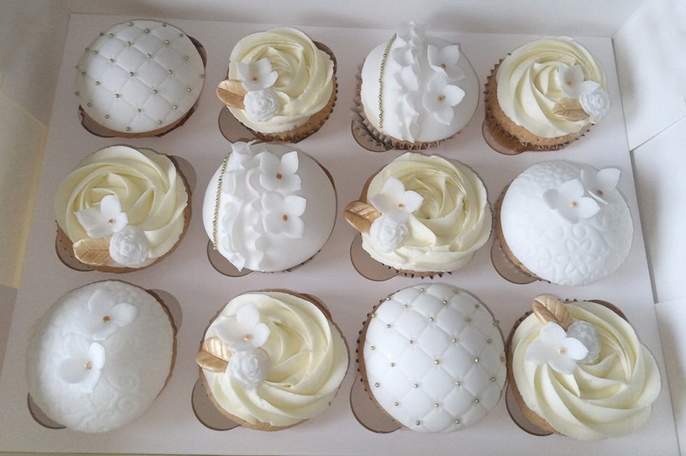 White Gold Cupcakes