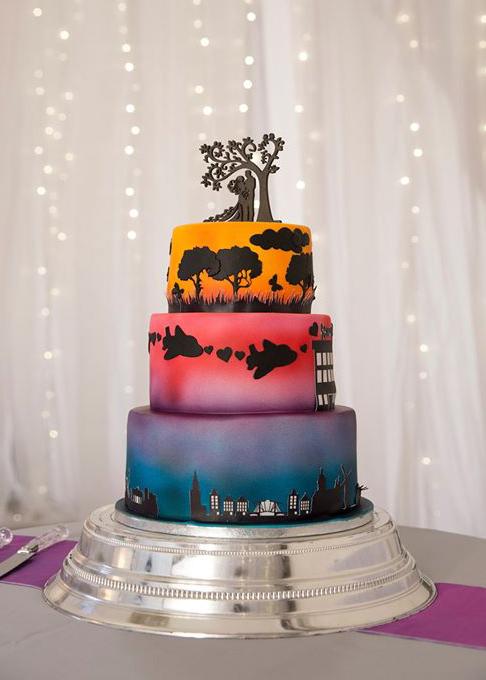Airbrush Wedding Cake