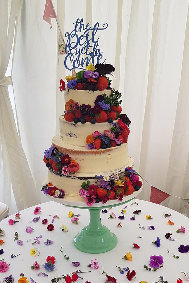 Semi Naked (1) Wedding Cake