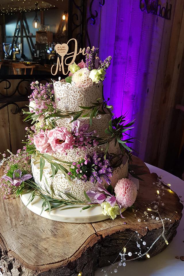 Semi Naked (3) Wedding Cake